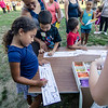 Students do arts and crafts during the ice cream social at Reingold Elementary School on Tuesday evening. SENTINEL & ENTERPRISE / Ashley Green