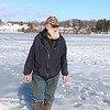 Richard Howell of Fitchburg loves to fish and was out at Lake Whalom on Thursday, like he does just about every day he said, trying to chatch some fish. With the recent warm weather this is one of the only places that the ice was safe enough to go out on. SENTINEL & ENTERPRISE/JOHN LOVE