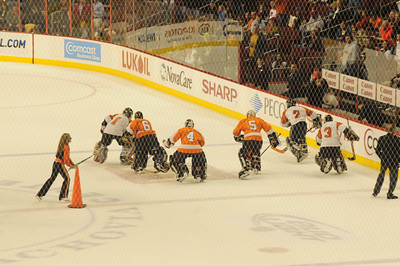 Billy and Rachel @ Flyers Game