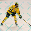 During the 2011 West Regional finals at Scottrade Center in St. Louis, Missouri.  Michigan defenseman Jon Merrill (24) looks to make a pass from the top of the opponents zone.  Michigan held on to defeat Colorado 2 to 1 to advance to the frozen four.