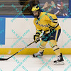 During the 2011 West Regional playoffs at Scottrade Center in St. Louis, MO.  Michigan defenseman Greg Pateryn (2) looks to make a pass out of his own zone.  Michigan defeated Nebraska 3 to 2 with a goal in overtime that had to be determined via a video review to advance to the West Regional finals.