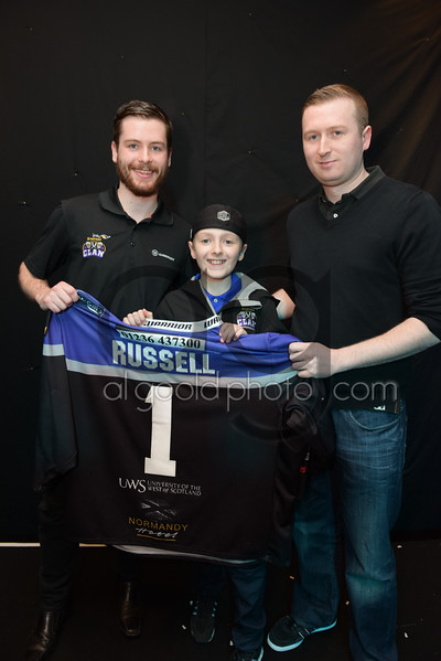 """Braehead Clan team of 2016-17 return their own and loan jerseys to the fans that own them, at The Normandy Hotel on   ,29 March , Picture: Al Goold ( <a href=""""http://www.algooldphoto.com"""">http://www.algooldphoto.com</a>)"""