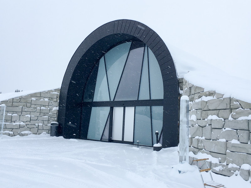 Entrance to 365 Ice Hotel