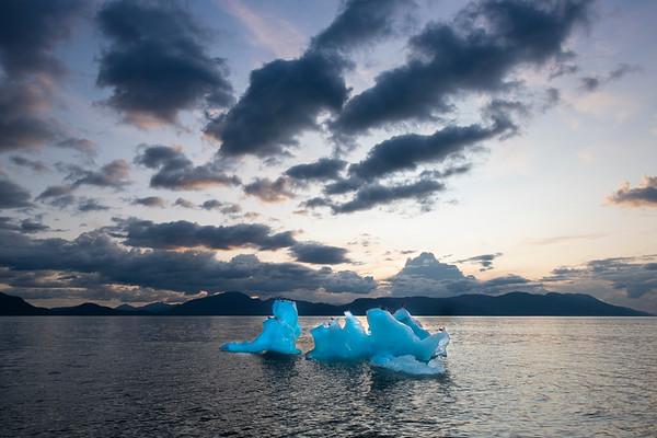 Iceberg and Sunset, Stephens Passage