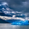 Blue Iceberg, Stormy Morning Skies, Endicott Arm