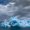 Iceberg and Dark Clouds, Endicott Arm