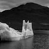Black and White Version of Iceberg, Endicott Arm