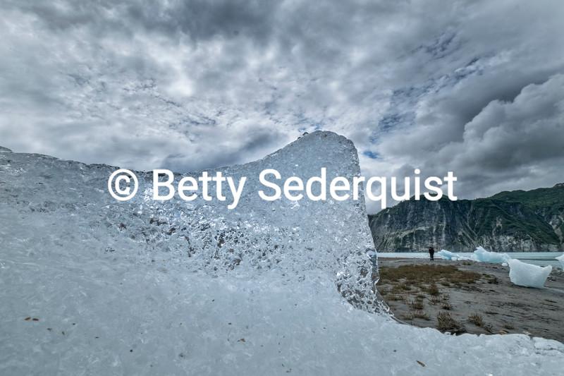 Close up of Glacier Ice, Muir Inlet, Glacier Bay