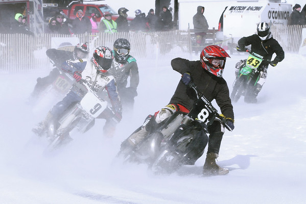 January 26 2014 marked the opening session of the Sturbridge Ice Races at Hamilton Rod & Gun Club and they were a great success. Despite the low temperatures and arctic wind chill there were lots of spectators and the ice was perfect for the racers.