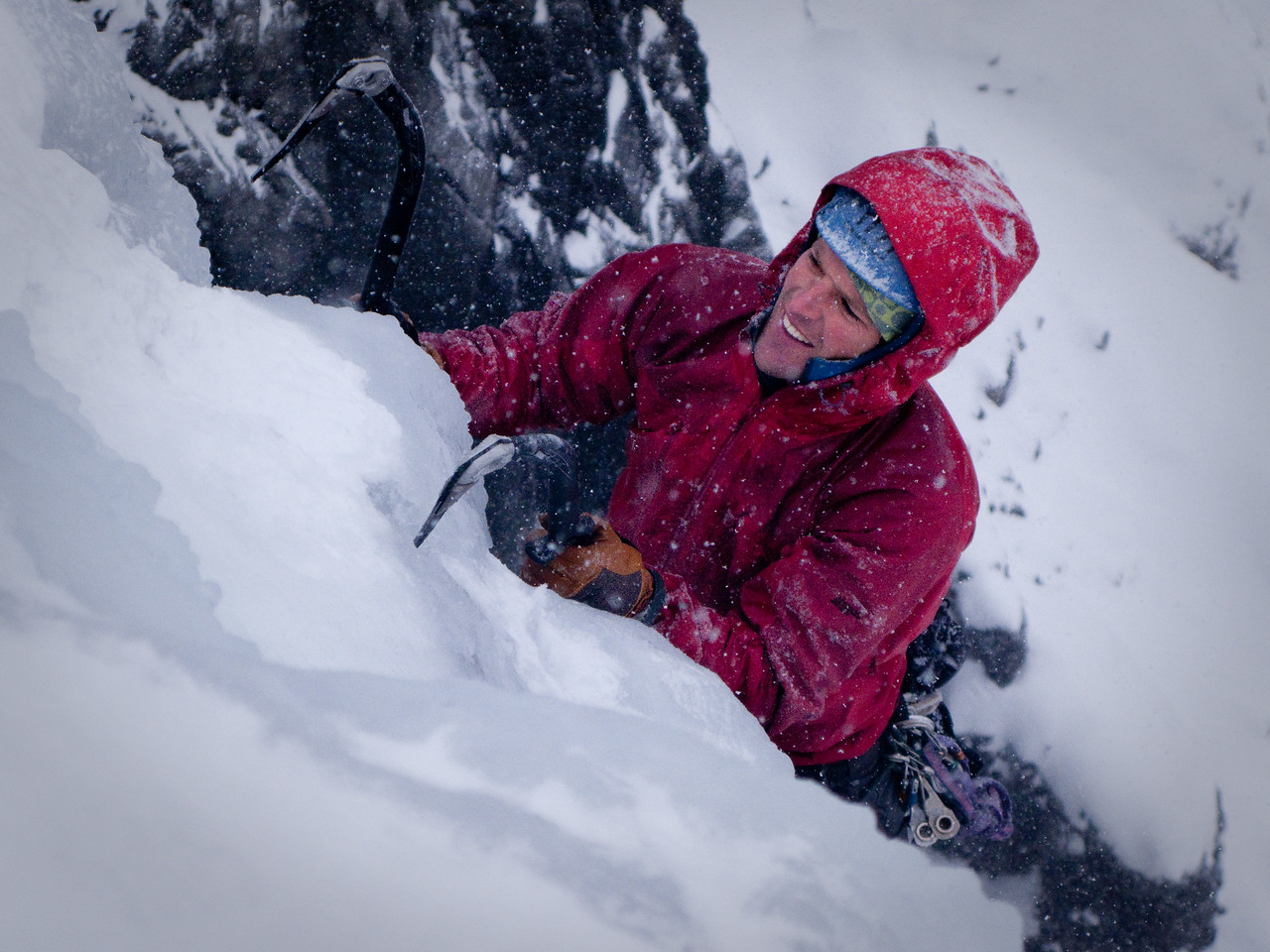 Simon Meis topping out on Nemesis/Stanley Headwall
