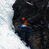 Cath heads up her first ever ice climb