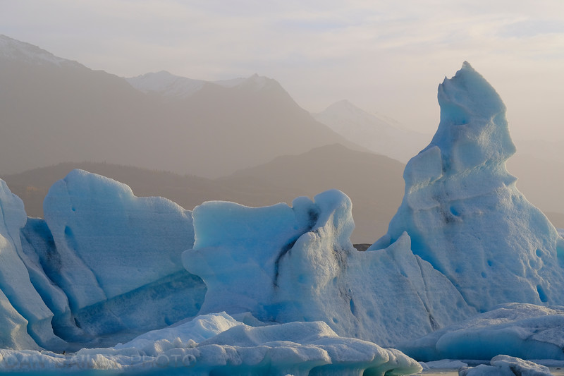 Icebergs in the Knik Glacier Lagoon