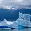Icebergs floating in Lake George, Chugach Mountains, Alaska