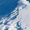 Mountain spire with an glacial icefall, Ruth Amphitheater, Alaska Range, Denali National Park, Alaska