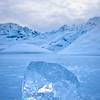 Ice cube formation on the Matanuska Glacier, Alaska