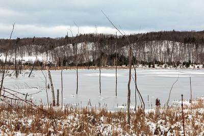 Frozen Pond In Sleeping Bear Dunes National Lakeshore