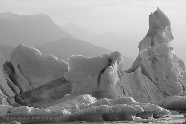 Icebergs in the Knik Glacier Lagoon