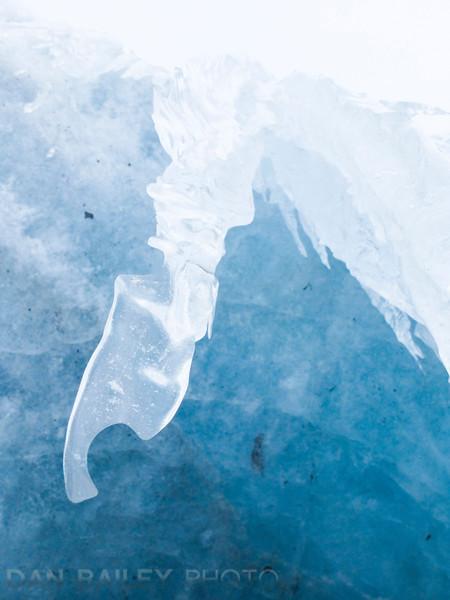 Ice formations and details, Knik Glacier, Alaska
