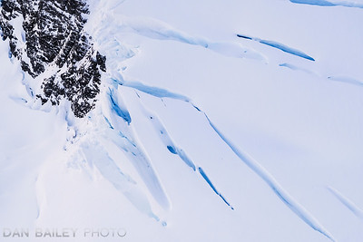 Crevasses in the glaciers of the Chugach Mountains, Alaska
