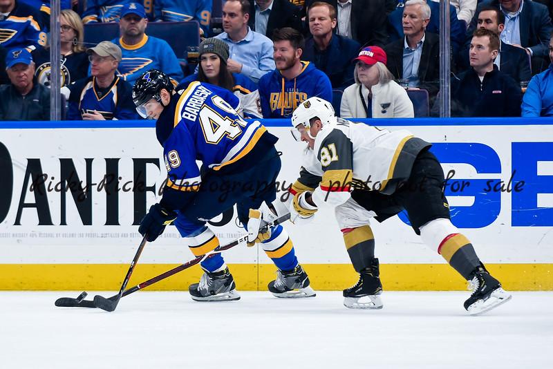 NHL 2019: Golden Knights vs Blues MAR 25