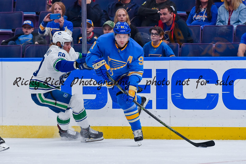 NHL 2019: Canucks vs Blues Apr 06