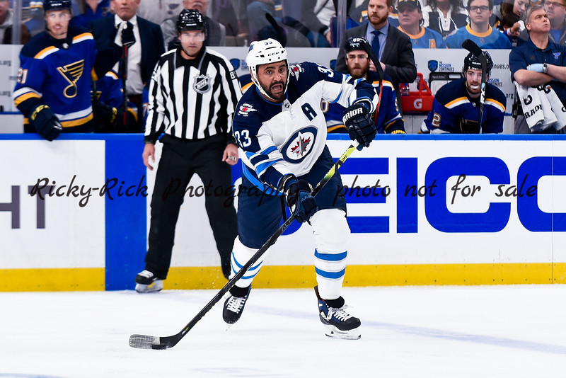 NHL 2019: Jets vs Blues Apr 14