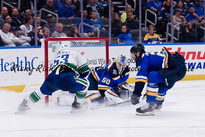 NHL 2019: Canucks vs Blues Oct 17