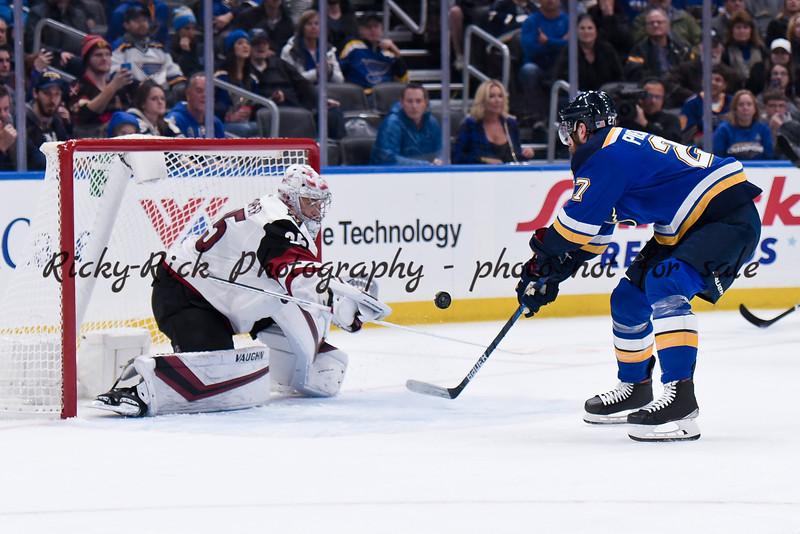 NHL 2019: Coyotes vs Blues Nov 12