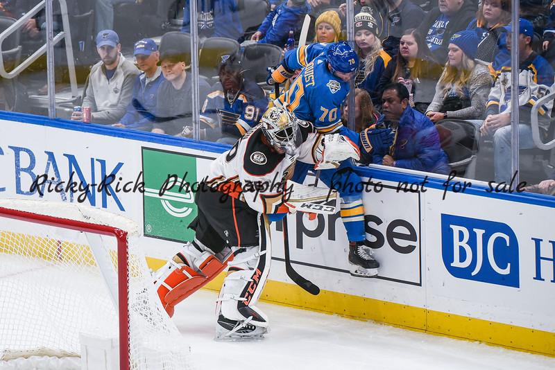 NHL 2019: Ducks vs Blues Nov 16
