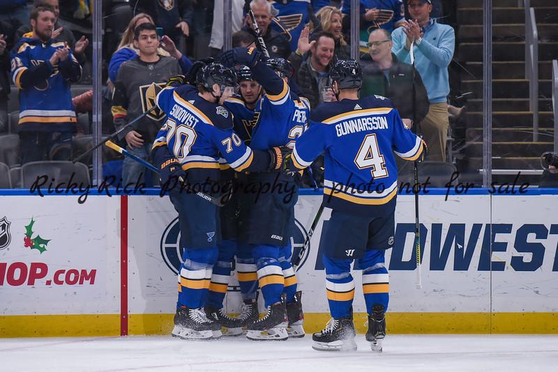NHL 2019: Golden Knights vs Blues Dec 12