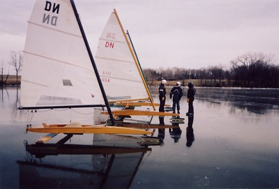 "First day ever sailing in my boat.  BLACK ICE ... I was spoiled for ever.  My boat is closest.  Click on photo to enlarge ... click again to enlarge even more!  Hit faint ""X"" in upper right corner to reduce."
