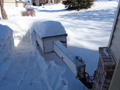 Trailer easily handles blizzards ...