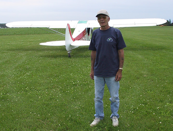 The late Dave Klatt ... builder of this beautiful boat.  Dave was a volunteer tow pilot for the Minnesota Soaring Club (summer fun).