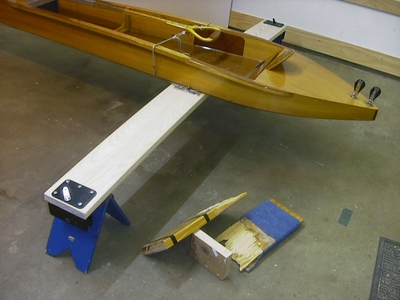 My DN sitting on the stands with the new un-finished plank..