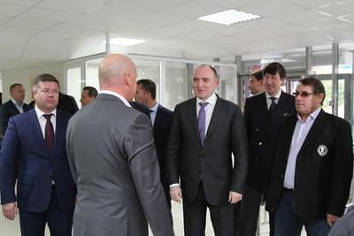 """Открытие ледового дворца, школа """"Трактор"""". 9 сентября 2014"""