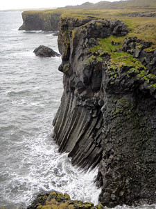 Basalt columns along the walk