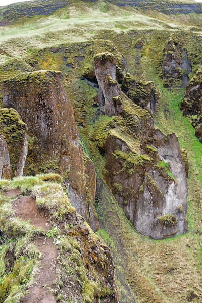 Canyon hike near Kirkjubaejarklaustur
