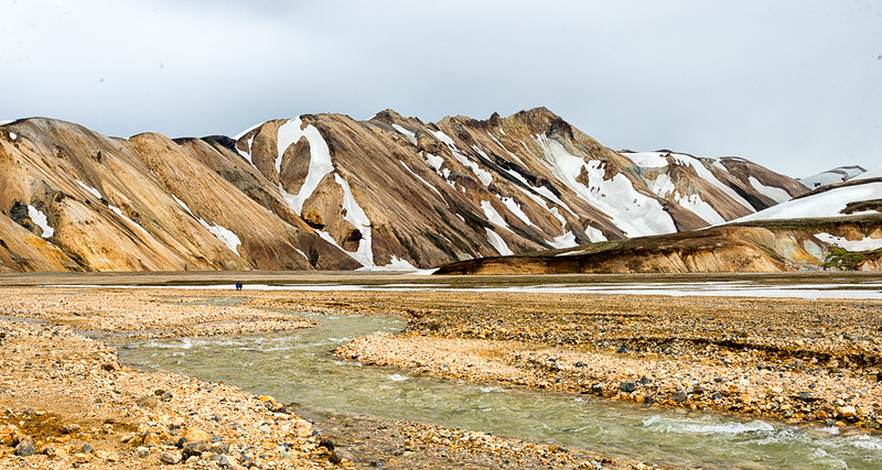 Landmannalaugar area with colorful mountains