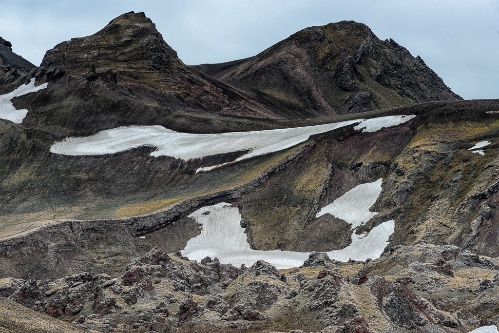 Drive to Landmannalaugar-a snow bird