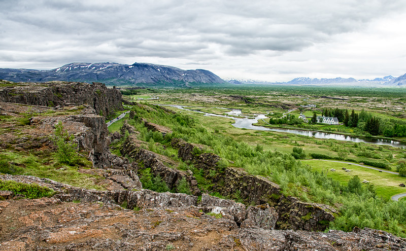 Pingvellir National Park-UNESCO world heritage site-separating the Eurasian and North American continental plates