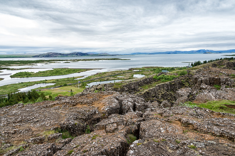 Pingvellir National Park-North American plate rises and the land falls to form the lake