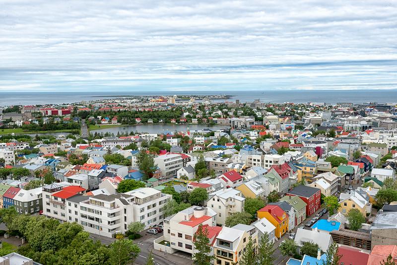 Reykjavik view from Hallgrimskirkja tower