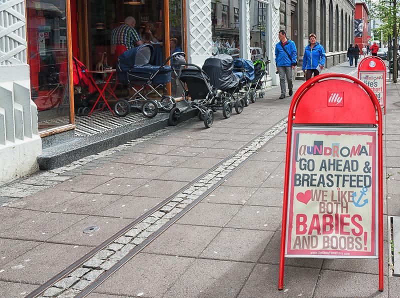 Restaurant for breast feeding mothers