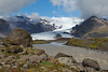 The Kviarjokull glacier and Kviar river.