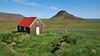 The small wooden church of Krysuvik, Reyjanes peninsula, Southwest Iceland.