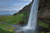 Waterfall at Seljalandsfoss.