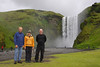 This is the only group photo that we have from our trip to Iceland. Three adventurous Rovers Steve, Heidi, Jim. The waterfall Skogafoss.