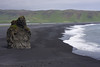 The black sand beach on the south coast of Iceland near Vik.