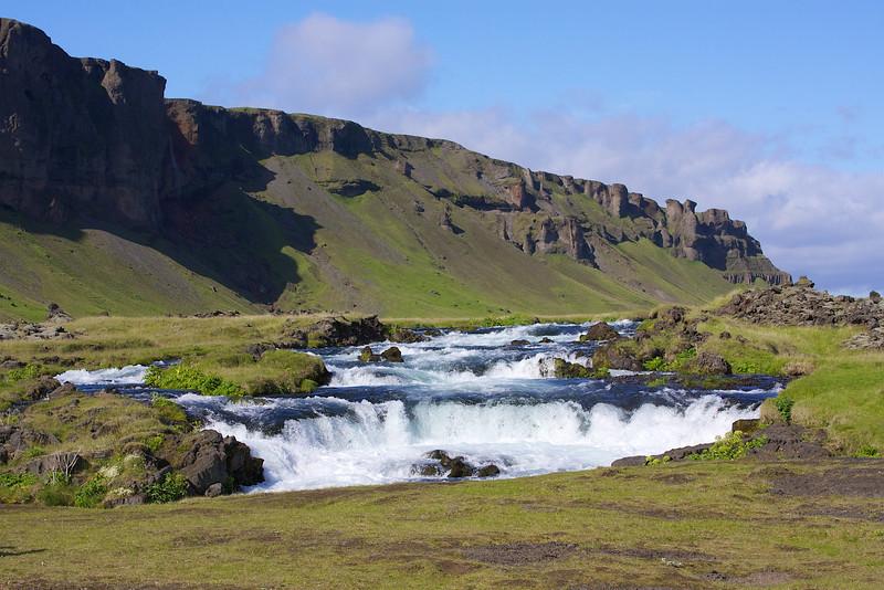 On the ring road south Iceland near Kirkjubaejarklauatur.