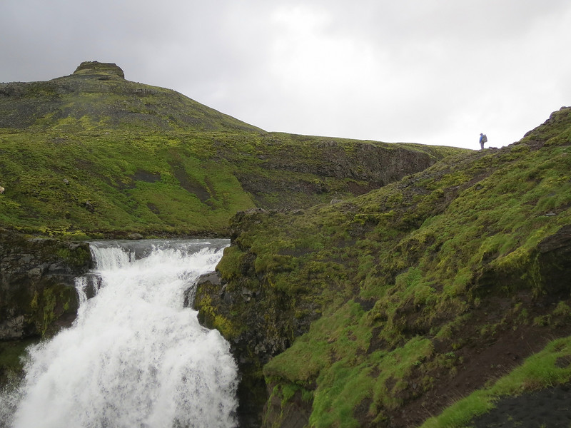 If you look to the right you will see Heidi standing overlooking this waterfall. She is a much faster hiker than me.